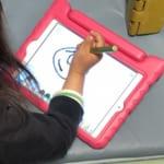 【思い出らくがき帳】初代iPad miniが子供用お絵描きボードに。